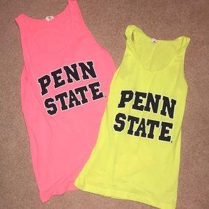 Tops - Bundle of 2 neon Penn State tank tops